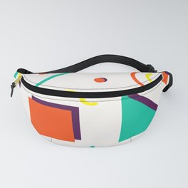 Sacramento 1995 - Memphis Throwback Retro 1990s 80s Trendy Hipster Pattern Bright Fanny Pack