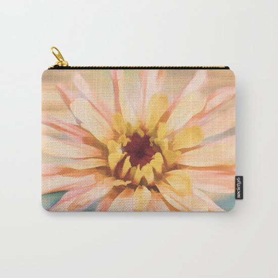 Sunset Zinnia Carry-All Pouch