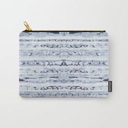 Boho Stripes Indigo Blue Carry-All Pouch