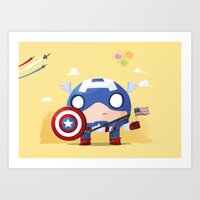 Chubby Captain  Art Print