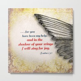 The Shadow of Your Wings Metal Print