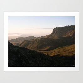 Chisos Mountains Art Print