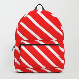Watermelon Red Diagonal Stripes Backpack