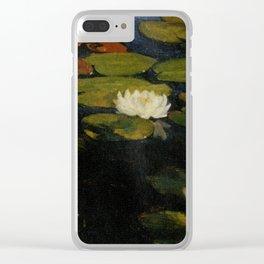 Waterlilies by Albert Edelfelt Clear iPhone Case