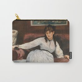 The Rest, portrait of Berthe Morisot by Edouard Manet Carry-All Pouch