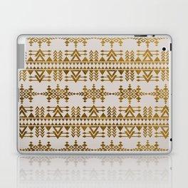 Golden Geometric Tribal Ethnic  Pattern Laptop & iPad Skin