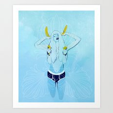BANANE/BLUE Art Print