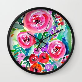 Summer Garden Wall Clock