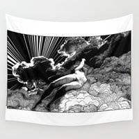 apollonia Wall Tapestries featuring asc 615 - La volupté des formes (The voluptuousness of painting) by From Apollonia with Love