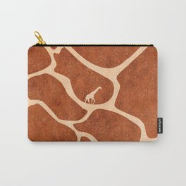 Giraffe Skin Pattern Surface Stains Lines Carry-All Pouch
