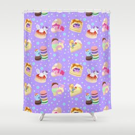 Ponies x Sweets Shower Curtain