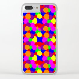 Colourful Splodges Clear iPhone Case