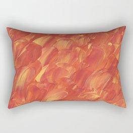 Painted Fire Rectangular Pillow