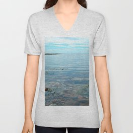 Looking Out to See The Sea Unisex V-Neck