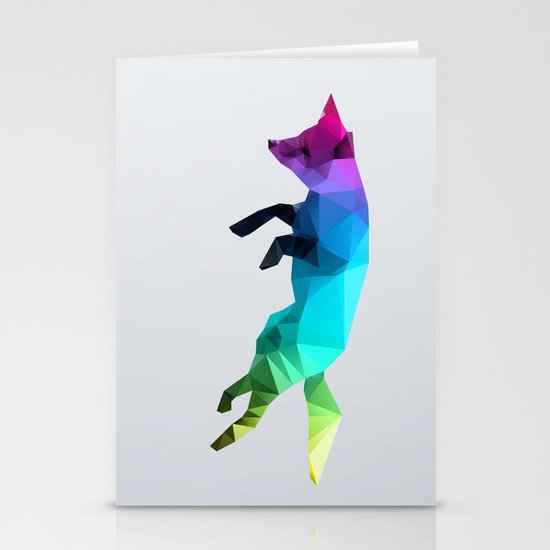 Glass Animal - Flying Fox Stationery Cards