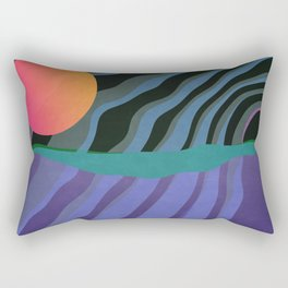Crepuscular Streams Rectangular Pillow