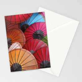 Paper Colored Umbrellas from Laos Stationery Cards