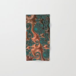 Copper Leaves - Fractal Art Hand & Bath Towel