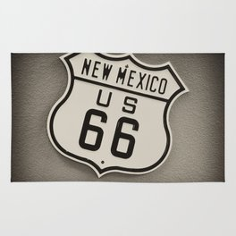 Route 66 sign in New Mexico. Rug