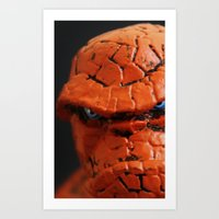 the thing Art Prints featuring Thing by Beastie Toyz