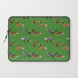 Backyard Critters in Green Laptop Sleeve