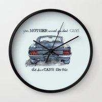 mustang Wall Clocks featuring Mustang by dareba