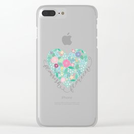 Flourish - Florecer Clear iPhone Case