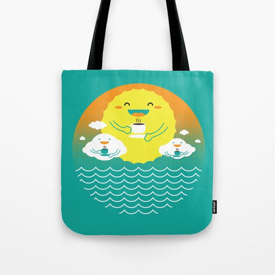 an afternoon coffee break Tote Bag