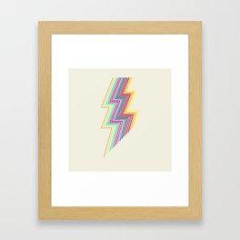 80's lightning Framed Art Print