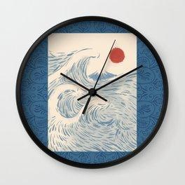 Mount Fuji the great wave 2 Wall Clock