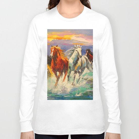 A herd of horses Long Sleeve T-shirt