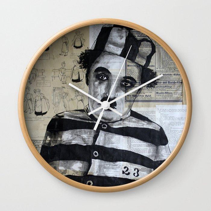 Charles Chaplin  Wall Clock