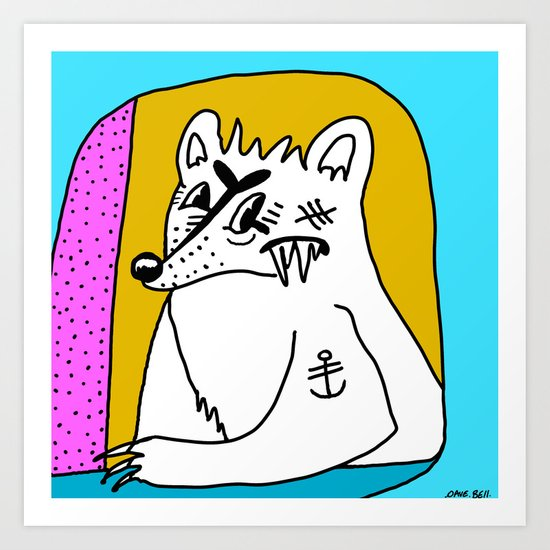 POLAR BEAR. Art Print