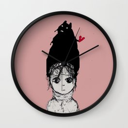 A Day of Pink Sun Wall Clock
