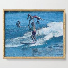 John & Mary Surfing Tandem Serving Tray