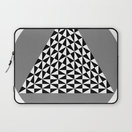 Black and White Puzzle Trigon Laptop Sleeve