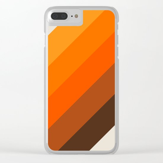 Simple Stripes - Golden Clear iPhone Case