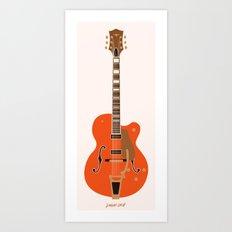 Chet's Guitar Art Print