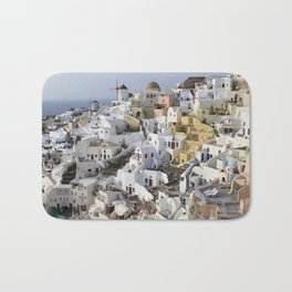 Windmills of Oia Bath Mat