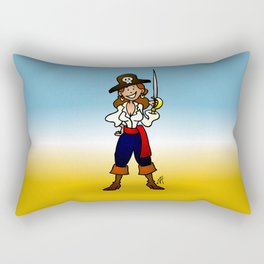 Pirate Girl Rectangular Pillow