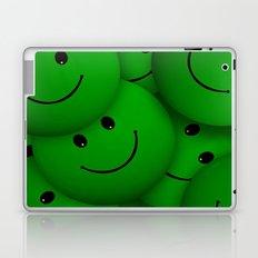 green Smileys Laptop & iPad Skin