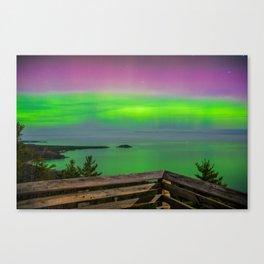 Sugar Loaf Northern Lights Canvas Print