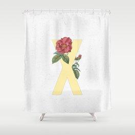 Letter 'X' Monogram Shower Curtain