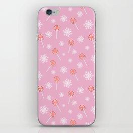 Winter lollipop design iPhone Skin