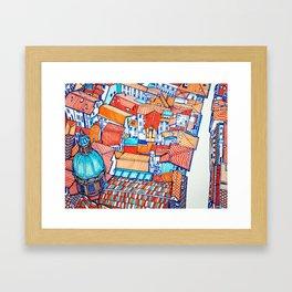 Bologna from above Framed Art Print