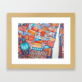 Bologna from above Framed Art Print
