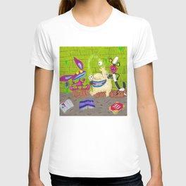 Aaahh Real Monsters Krumm Ickis Oblina Nickelodeon T-shirt