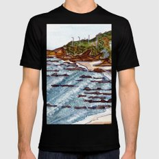 Cabo Mondego, Portugal Mens Fitted Tee Black MEDIUM