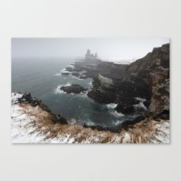 Londrangar, winter Canvas Print