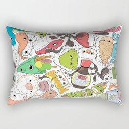 Sushi Bar: Point of Nori-turn Rectangular Pillow